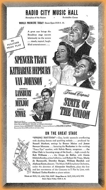 State of the Union opened  on April 28th, 1948.