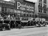 Pantages Theatre under construction 1919, photo courtesy of the Old Pictures Facebook page.