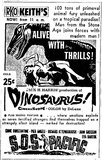 RKO Keith - Movie Ad - Dinosaurus!
