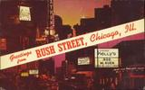 1968 Rush Street postcard.