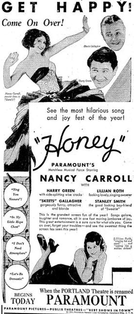Reopening ad as Paramount March 13th, 1930