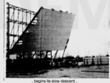 Down come Belt Drive-In screen
