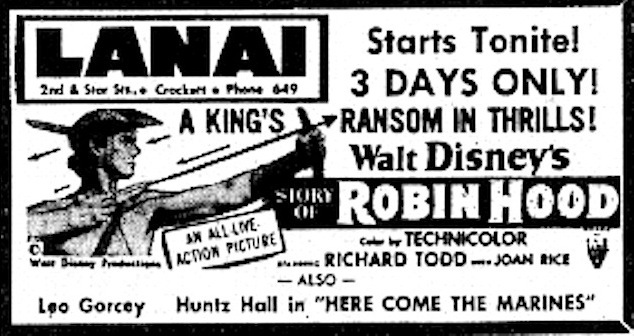 Newspaper Ad 1952