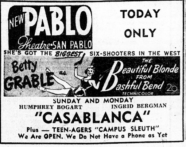 Newspaper Ad 1949