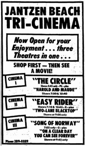December 8th, 1972 grand opening ad