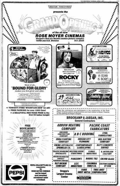 April 7th, 1977 grand opening ad