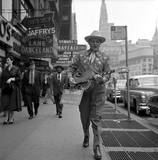 "May 1954 Mayfair Theatre street promotion for ""Johnny Guitar""starring Joan Crawford."