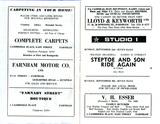 Studios 1 & 2, Farnham - Programme Booklet - September 1973 (pp1-2)