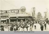 Rosemary Theatre, Alber's Waffle Flour and the Dome Theatre on the Ocean Park Pier, 1900. Photo credit Santa Monica Public Library Image Archives.