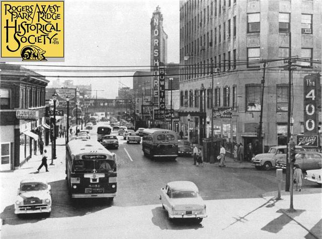 1955 photo credit & courtesy of the Rogers Park/West Ridge Historical Society.