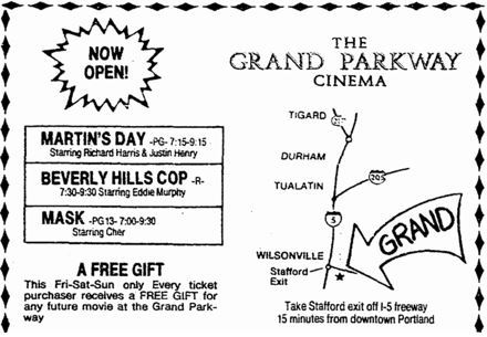 May 17th, 1985 grand opening ad