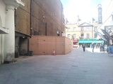 Empire 1 Remodelling - View of Hoarding  (Leicester Place)