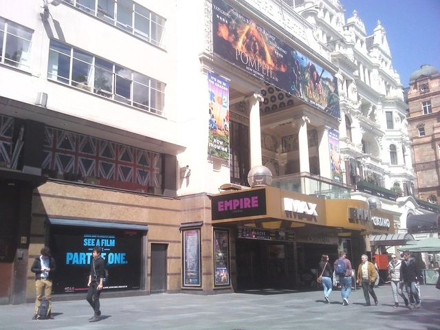 Empire Leicester Square marquee with new IMAX sign