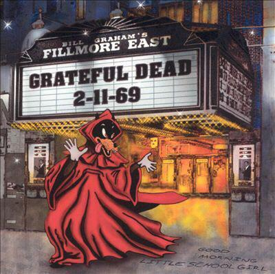 "CD cover for ""Live At The Fillmore East 2-11-69"" by the Grateful Dead. Released 10/97."