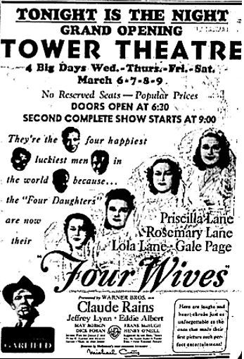 March 6th, 1940 grand opening ad