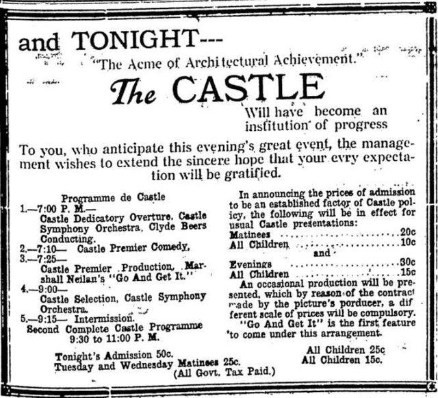 November 1st, 1920 grand opening ad