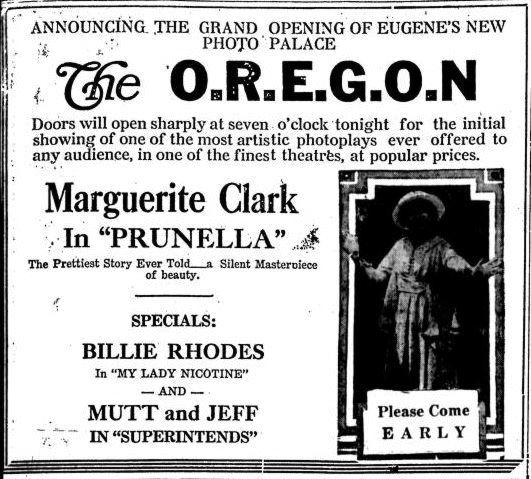 July 1st, 1919 grand opening ad