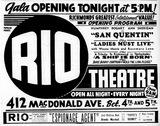 Rio Gala Opening 1943
