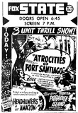 State Theatre Late 1940's Newspaper Ad
