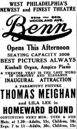 September 1st, 1923 grand opening ad
