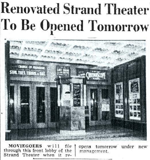 Strand Theatre Yonkers NY 1954