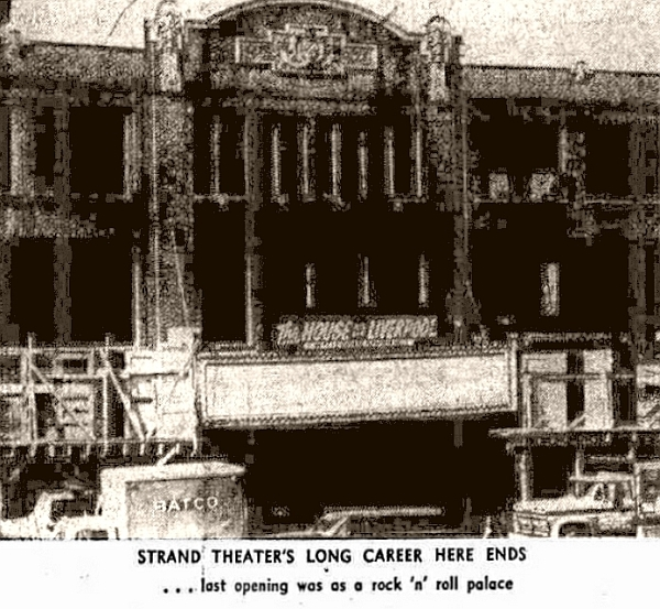 Strand Theatre Yonkers NY 1968