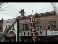 Jenkintown, PA's Hiway Theatre vertical sign is installed!