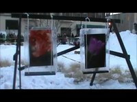 Flint Fire & Ice Festival, Feb. 2012, in front of the Capitol Theatre.  Theater tour 12 min. into video
